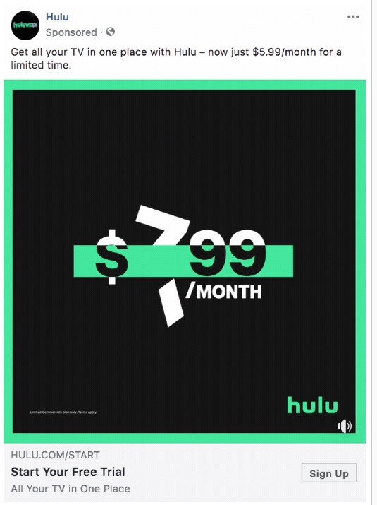 Hulu Call-to-Action Button Examples